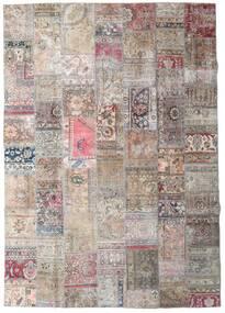 パッチワーク - Persien/Iran 絨毯 251X355 モダン 手織り 薄い灰色/ホワイト/クリーム色 大きな (ウール, ペルシャ/イラン)