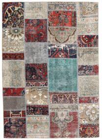 パッチワーク - Persien/Iran 絨毯 141X202 モダン 手織り 薄い灰色/濃いグレー (ウール, ペルシャ/イラン)