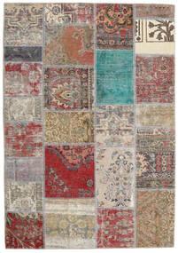 パッチワーク - Persien/Iran 絨毯 141X203 モダン 手織り 薄い灰色/茶 (ウール, ペルシャ/イラン)