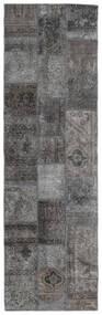 パッチワーク - Persien/Iran 絨毯 76X251 モダン 手織り 廊下 カーペット 濃いグレー/薄い灰色 (ウール, ペルシャ/イラン)