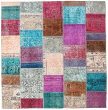 パッチワーク - Persien/Iran 絨毯 200X205 モダン 手織り 正方形 薄い灰色/紫 (ウール, ペルシャ/イラン)