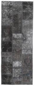 パッチワーク - Persien/Iran 絨毯 76X205 モダン 手織り 廊下 カーペット 濃いグレー/黒 (ウール, ペルシャ/イラン)