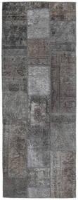 パッチワーク - Persien/Iran 絨毯 76X204 モダン 手織り 廊下 カーペット 濃いグレー/薄い灰色 (ウール, ペルシャ/イラン)