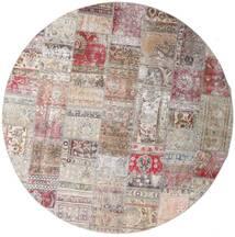 パッチワーク - Persien/Iran 絨毯 Ø 250 モダン 手織り ラウンド 薄い灰色/薄紫色 大きな (ウール, ペルシャ/イラン)