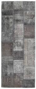 パッチワーク - Persien/Iran 絨毯 77X198 モダン 手織り 廊下 カーペット 濃いグレー/薄い灰色 (ウール, ペルシャ/イラン)