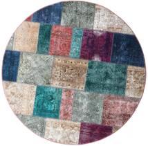 パッチワーク - Persien/Iran 絨毯 Ø 200 モダン 手織り ラウンド 薄い灰色/青 (ウール, ペルシャ/イラン)