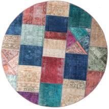パッチワーク - Persien/Iran 絨毯 Ø 200 モダン 手織り ラウンド 紺色の/紫 (ウール, ペルシャ/イラン)