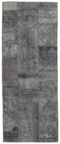 パッチワーク - Persien/Iran 絨毯 76X196 モダン 手織り 廊下 カーペット 濃いグレー (ウール, ペルシャ/イラン)