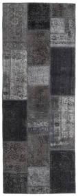 パッチワーク - Persien/Iran 絨毯 77X202 モダン 手織り 廊下 カーペット 濃いグレー/薄い灰色 (ウール, ペルシャ/イラン)