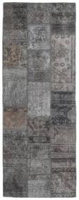 パッチワーク - Persien/Iran 絨毯 75X201 モダン 手織り 廊下 カーペット 濃いグレー/薄い灰色 (ウール, ペルシャ/イラン)