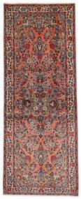 サルーク 絨毯 81X204 オリエンタル 手織り 廊下 カーペット 濃い茶色/薄茶色 (ウール, ペルシャ/イラン)