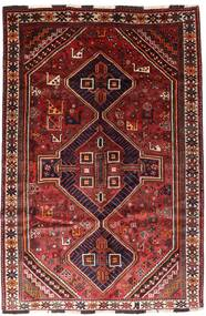 シラーズ 絨毯 166X246 オリエンタル 手織り 深紅色の/錆色 (ウール, ペルシャ/イラン)