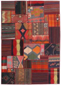 Tekkeh キリム 絨毯 141X201 モダン 手織り 深紅色の/黒 (ウール, ペルシャ/イラン)