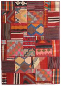 Tekkeh キリム 絨毯 141X203 モダン 手織り 深紅色の/濃い茶色 (ウール, ペルシャ/イラン)