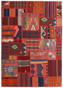 Tekkeh キリム 絨毯 141X203 モダン 手織り 濃いグレー/深紅色の/錆色 (ウール, ペルシャ/イラン)