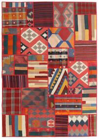 Tekkeh キリム 絨毯 141X203 モダン 手織り 錆色/濃いグレー/深紅色の (ウール, ペルシャ/イラン)