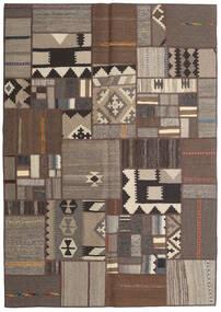 Tekkeh キリム 絨毯 141X203 モダン 手織り 濃い茶色/薄い灰色/茶 (ウール, ペルシャ/イラン)