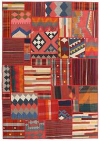 Tekkeh キリム 絨毯 141X203 モダン 手織り 深紅色の/錆色/濃いグレー (ウール, ペルシャ/イラン)