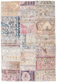 パッチワーク - Persien/Iran 絨毯 108X159 モダン 手織り 薄い灰色/ライトピンク/ホワイト/クリーム色 (ウール, ペルシャ/イラン)