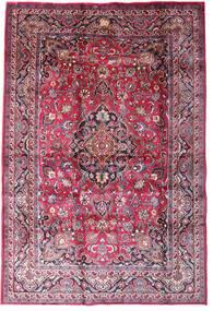 マシュハド 絨毯 198X290 オリエンタル 手織り 濃い紫/ライトピンク (ウール, ペルシャ/イラン)
