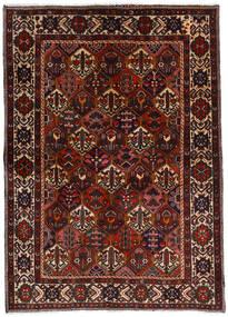 バクティアリ 絨毯 153X212 オリエンタル 手織り 濃い茶色/深紅色の (ウール, ペルシャ/イラン)