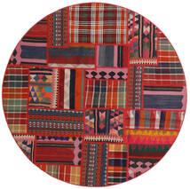 Tekkeh キリム 絨毯 Ø 150 モダン 手織り ラウンド 深紅色の/錆色 (ウール, ペルシャ/イラン)