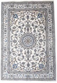ナイン 絨毯 198X290 オリエンタル 手織り ベージュ/濃いグレー/ホワイト/クリーム色 (ウール, ペルシャ/イラン)
