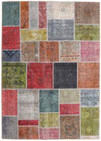 パッチワーク - Persien/Iran 絨毯 165X232 モダン 手織り 濃いグレー/深紅色の (ウール, ペルシャ/イラン)