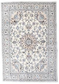 ナイン 絨毯 164X242 オリエンタル 手織り ベージュ/薄い灰色 (ウール, ペルシャ/イラン)