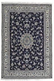 ナイン 絨毯 164X242 オリエンタル 手織り 黒/薄い灰色 (ウール, ペルシャ/イラン)