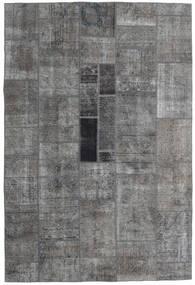 パッチワーク - Persien/Iran 絨毯 200X297 モダン 手織り 濃いグレー/薄い灰色 (ウール, ペルシャ/イラン)