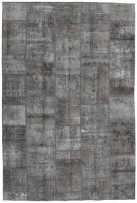 パッチワーク - Persien/Iran 絨毯 200X300 モダン 手織り 濃いグレー/薄い灰色 (ウール, ペルシャ/イラン)
