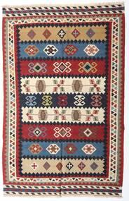 キリム ヴィンテージ 絨毯 153X235 オリエンタル 手織り 深紅色の/濃い紫 (ウール, ペルシャ/イラン)