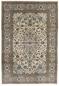 カシャン 絨毯 195X288 オリエンタル 手織り 濃いグレー/薄い灰色 (ウール, ペルシャ/イラン)