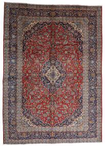 カシャン 絨毯 287X403 オリエンタル 手織り 深紅色の/濃い茶色 大きな (ウール, ペルシャ/イラン)