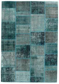 パッチワーク - Persien/Iran 絨毯 167X236 モダン 手織り ターコイズブルー/ターコイズ (ウール, ペルシャ/イラン)