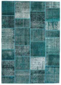 パッチワーク - Persien/Iran 絨毯 165X233 モダン 手織り ターコイズ/ターコイズブルー (ウール, ペルシャ/イラン)