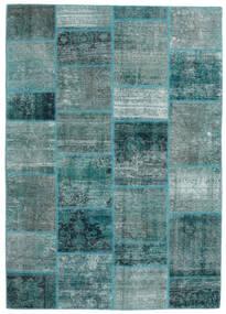 パッチワーク - Persien/Iran 絨毯 168X234 モダン 手織り ターコイズ/ターコイズブルー (ウール, ペルシャ/イラン)