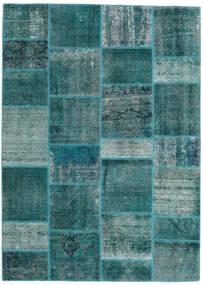パッチワーク - Persien/Iran 絨毯 167X231 モダン 手織り ターコイズ/ターコイズブルー (ウール, ペルシャ/イラン)