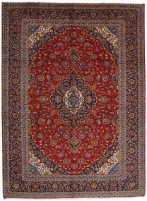 カシャン 絨毯 305X416 オリエンタル 手織り 深紅色の/濃い茶色 大きな (ウール, ペルシャ/イラン)