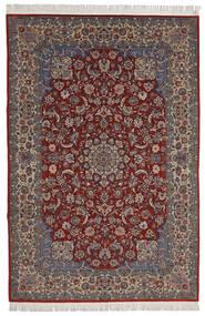 イスファハン Sherkat Farsh 絨毯 200X300 オリエンタル 手織り 深紅色の/濃い茶色 (ウール/絹, ペルシャ/イラン)