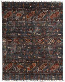 Shabargan 絨毯 154X201 モダン 手織り 黒/濃いグレー (ウール, アフガニスタン)