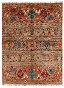 Shabargan 絨毯 153X209 モダン 手織り 濃い茶色/薄茶色 (ウール, アフガニスタン)