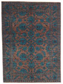 Mirage 絨毯 145X200 モダン 手織り 紺色の/薄茶色 (ウール, アフガニスタン)