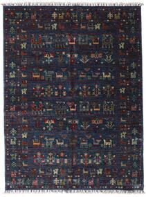 Shabargan 絨毯 154X205 モダン 手織り 濃い紫/紺色の (ウール, アフガニスタン)
