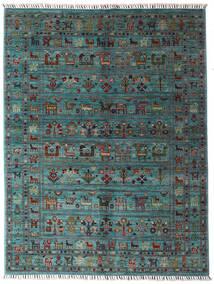 Sharbargan 絨毯 152X200 モダン 手織り 青/濃いグレー (ウール, アフガニスタン)