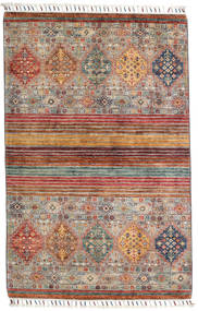 Sharbargan 絨毯 100X153 モダン 手織り 薄い灰色/深紅色の (ウール, アフガニスタン)