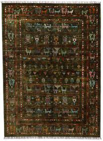 モダン アフガン 絨毯 154X212 モダン 手織り 濃い茶色 (ウール, アフガニスタン)