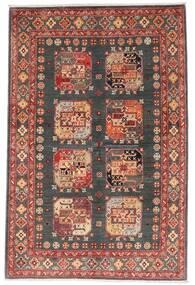 カザック 絨毯 118X179 オリエンタル 手織り 深紅色の/濃いグレー (ウール, アフガニスタン)