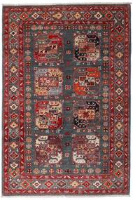 カザック 絨毯 117X173 オリエンタル 手織り 深紅色の/濃い茶色 (ウール, アフガニスタン)